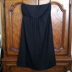 Banana Republic Silk Pleated Bodice Dress 8 Petite
